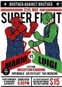 Camiseta Mario vs Luigi