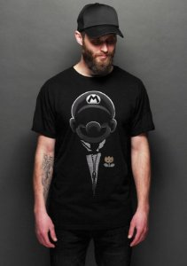 Camiseta Masculina  Mario the god father - Nerd e Geek - Presentes Criativos