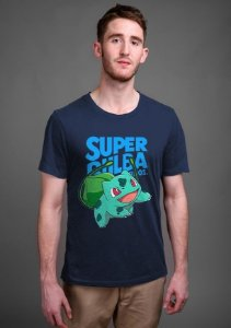 Camiseta Masculina  Super Bulba - Nerd e Geek - Presentes Criativos