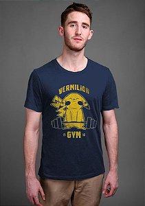 Camiseta Masculina  Pikachu Vermilion - Nerd e Geek - Presentes Criativos