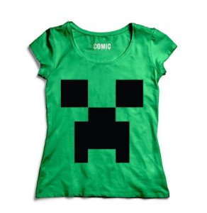 Camiseta Feminina Minecraft - Nerd e Geek - Presentes Criativos