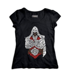 Camiseta Feminina Assassin's Creed - Nerd e Geek - Presentes Criativos