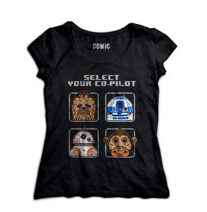 Camiseta Feminina  Star Wars - R2 D2 - BB8