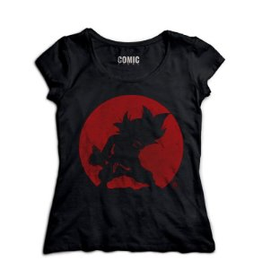 Camiseta Feminina Dragon Ball Goku Kamehameha - Nerd e Geek - Presentes Criativos