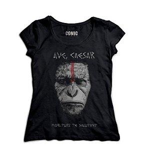 Camiseta Feminina Planeta dos Macacos - Nerd e Geek - Presentes Criativos