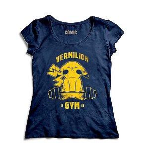 Camiseta Feminina  Pikachu GYM - Nerd e Geek - Presentes Criativos