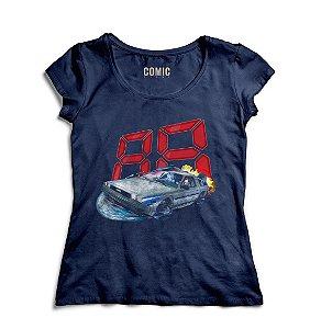 Camiseta Feminina  De Volta Para o Futuro 88 - Nerd e Geek - Presentes Criativos