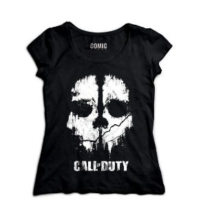 Camiseta Feminina  Call of Duty - Nerd e Geek - Presentes Criativos