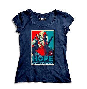 Camiseta Feminina  Deadpool Hope