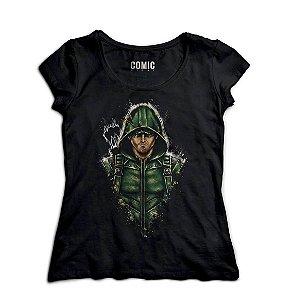 Camiseta Feminina  Arrow - Oliver Queen / Arqueiro Verde - Nerd e Geek - Presentes Criativos