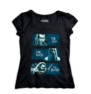 Camiseta Feminina  The Lord of Rings - Nerd e Geek - Presentes Criativos
