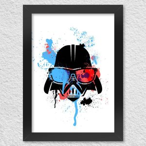 Poster com Moldura Geek Side - Vader Presentes Criativos