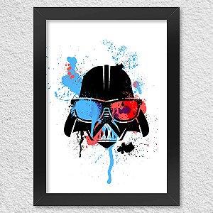Poster com Moldura Geek Side - Vader Presentes Criativos