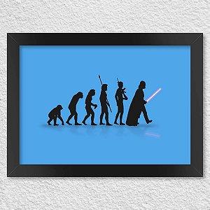 Poster com Moldura Geek Evolution - Azul Presentes Criativos