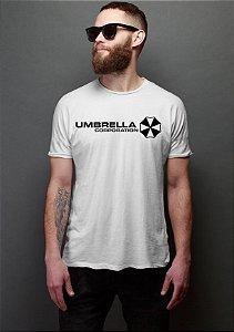 Camiseta Masculina  Umbrella Corporation - Nerd e Geek - Presentes Criativos