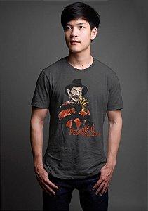 Camiseta Masculina  seu Madruga Pesadelo do Aluguel Cinza - Nerd e Geek - Presentes Criativos