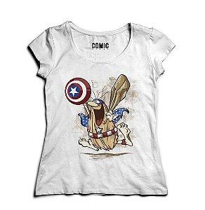 Camiseta Feminina Capitão Caverna - Nerd e Geek - Presentes Criativos