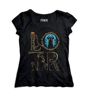Camiseta Feminina Senhos dos Aneis - Filme - Nerd e Geek - Presentes Criativos
