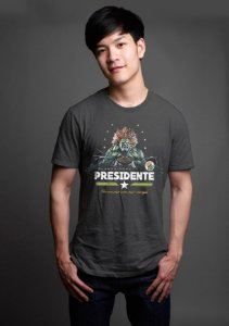Camiseta Masculina  Blanka Presidente - Nerd e Geek - Presentes Criativos