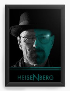 Quadro Decorativo Breaking Bad - heisenberg - Nerd e Geek - Presentes Criativos