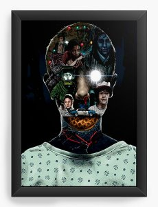 Quadro Decorativo Stranger Things - Eleven - Nerd e Geek - Presentes Criativos