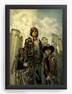 Quadro Decorativo A4 (33X24) The Walking Dead - Serie - Nerd e Geek - Presentes Criativos