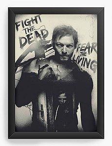 Quadro Decorativo The Walking Dead - Daryl Dixon - Nerd e Geek - Presentes Criativos