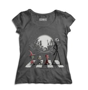 Camiseta Feminina Jack Skellington - Nerd e Geek - Presentes Criativos