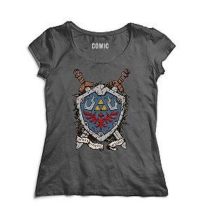 Camiseta Feminina Escurdo Link - Nerd e Geek - Presentes Criativos