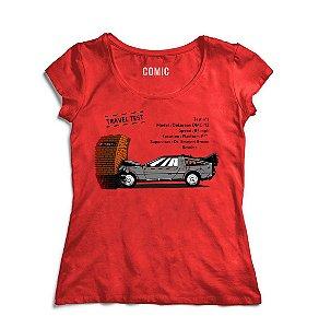 Camiseta Feminina De Volta para o Futuro 5 - Nerd e Geek - Presentes Criativos