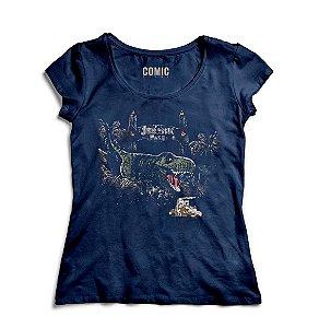 Camiseta Feminina Jurassic Park - Mundo Perdido - Nerd e Geek - Presentes Criativos