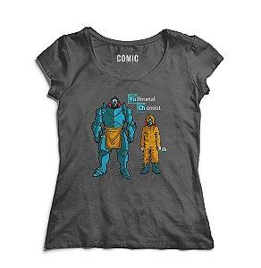 Camiseta Feminina Fullmetal chemist - Nerd e Geek - Presentes Criativos