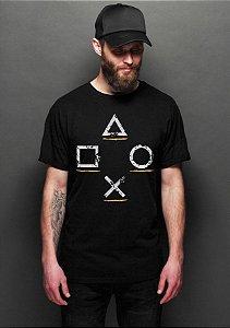 Camiseta Masculina  Controle Play - Nerd e Geek - Presentes Criativos