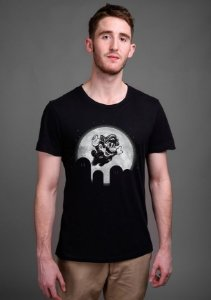 Camiseta Masculina  Super Mario NIght - Nerd e Geek - Presentes Criativos