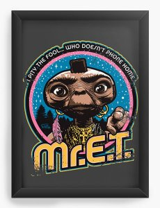 Quadro Decorativo ET o Extraterrestre - Nerd e Geek - Presentes Criativos