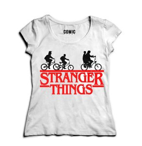 Camiseta Feminina Eleven - Stranger Things - Nerd e Geek - Presentes Criativos