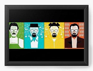 Quadro Decorativo A4 (33X24) Heisenberg - Nerd e Geek - Presentes Criativos