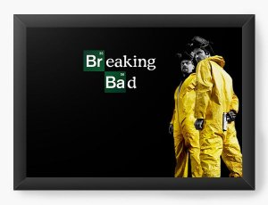 Quadro Decorativo Heisenberg - Breaking Bad - Nerd e Geek - Presentes Criativos