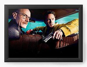 Quadro Decorativo A4 (33X24) Heisenberg e Jesse - Nerd e Geek - Presentes Criativos