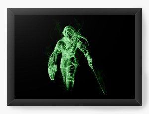 Quadro Decorativo A4 (33X24) Link Dark - Nerd e Geek - Presentes Criativos