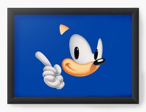 Quadro Decorativo Sonic - Nerd e Geek - Presentes Criativos