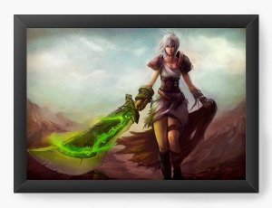 Quadro Decorativo A4 (33X24) Final Fantasy - Nerd e Geek - Presentes Criativos