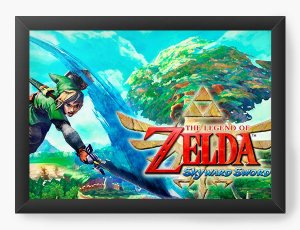Quadro Decorativo The Legend of Zelda skyward sword