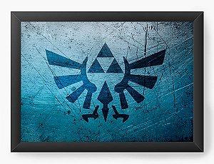 Quadro Decorativo The Legend of Zelda Blue Triforce
