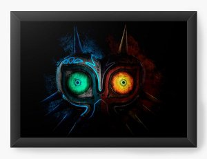 Quadro Decorativo A4 (33X24) The Legend of Zelda Majora's Mask - Nerd e Geek - Presentes Criativos
