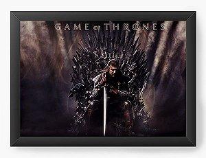 Quadro Decorativo Game of Thrones - Eddard Stark