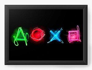 Quadro Decorativo A4 (33X24) Game - Controle - Nerd e Geek - Presentes Criativos