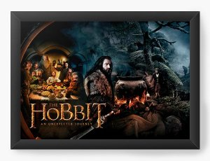 Quadro Decorativo Hobbit - Nerd e Geek - Presentes Criativos
