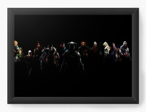 Quadro Decorativo Link e Assassin's creed - Diversos - Nerd e Geek - Presentes Criativos