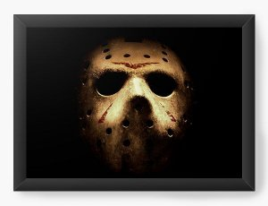 Quadro Decorativo A4 (33X24) Jason - Nerd e Geek - Presentes Criativos
